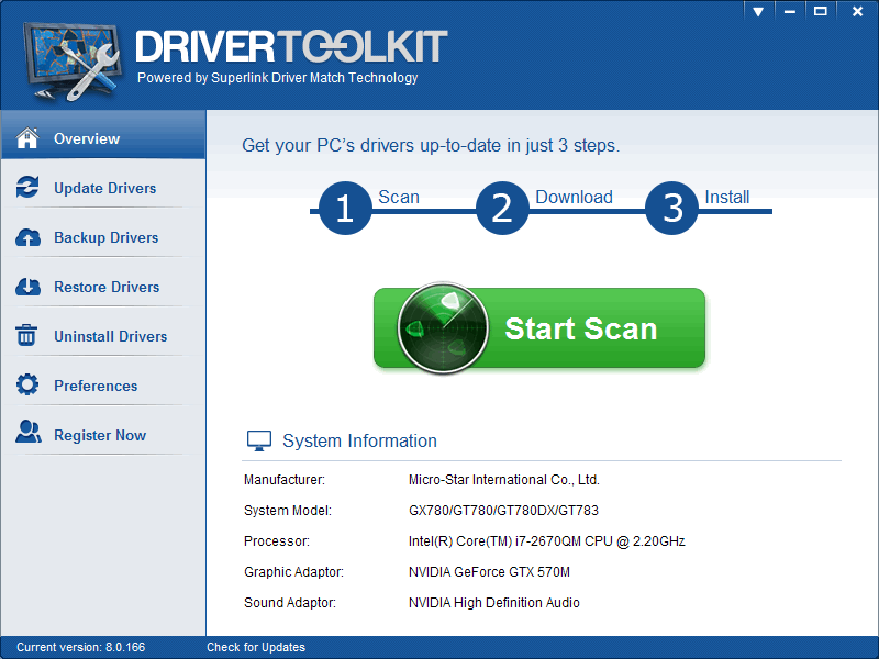 Click to view DriverToolkit screenshots