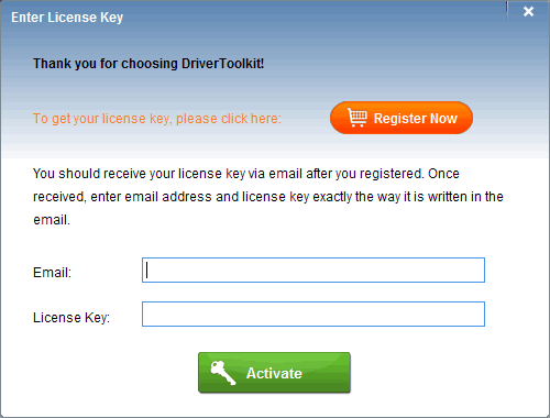 Enter License Key